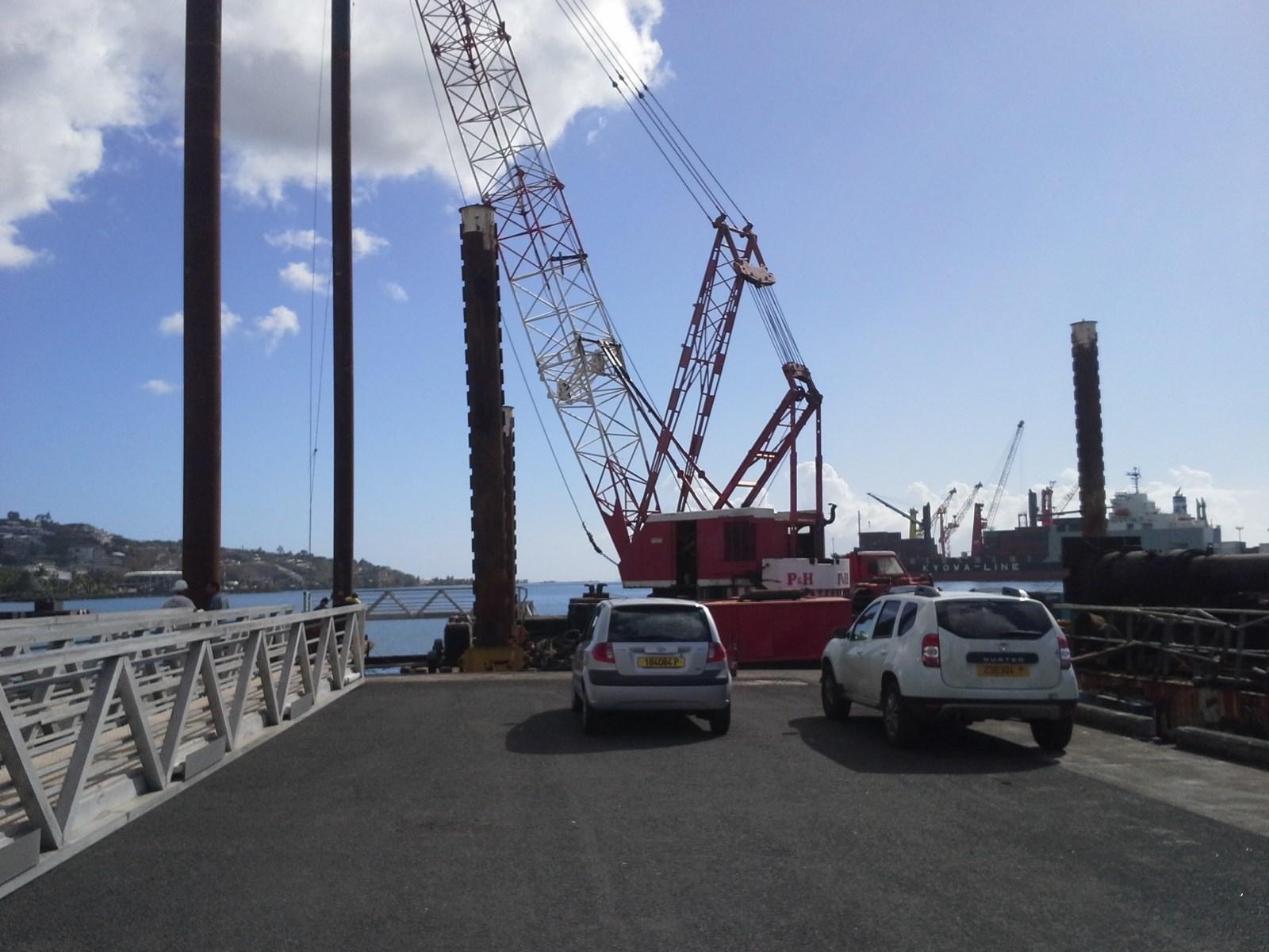 Extension du quai de l'epi Sud