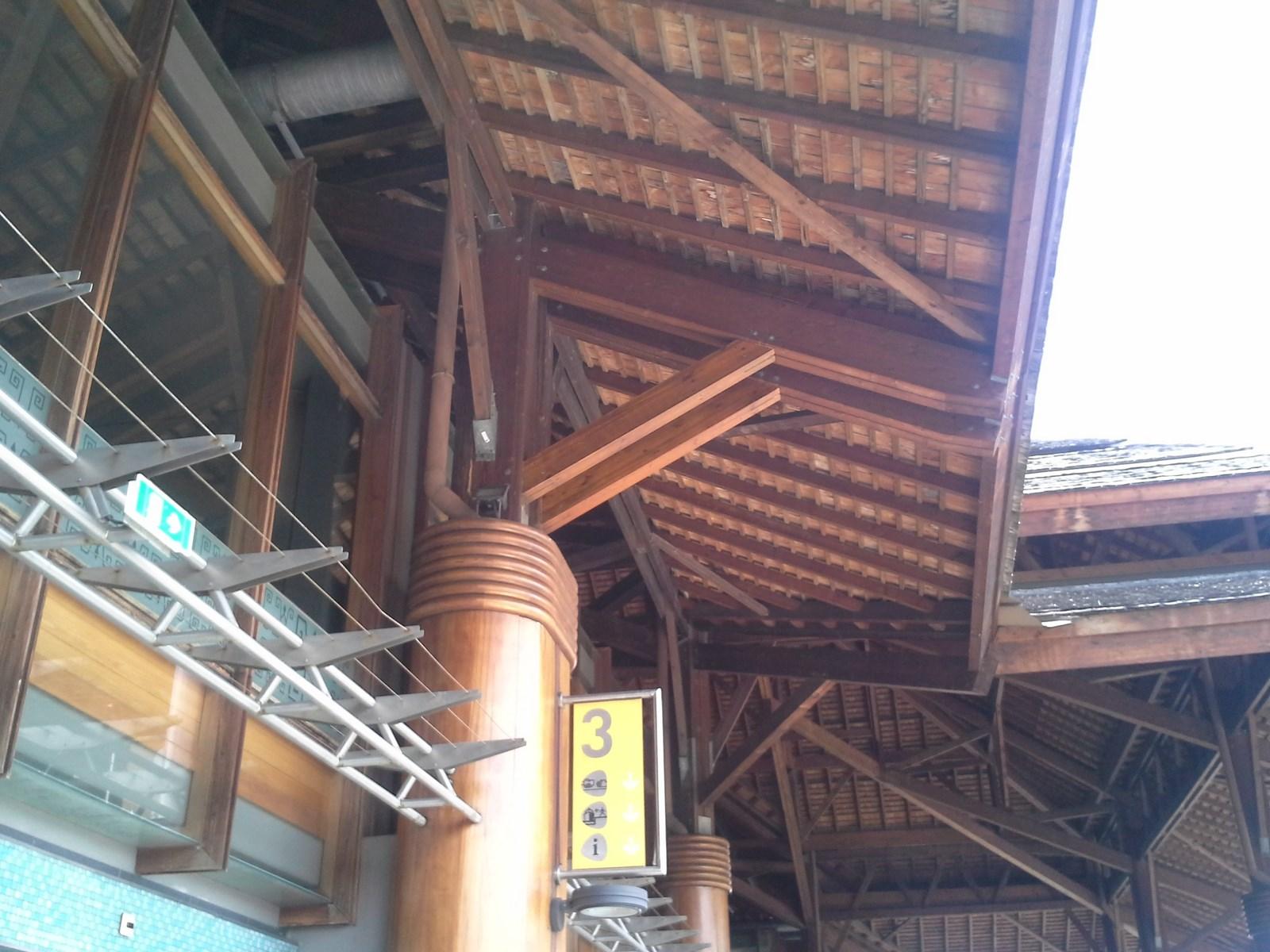 Travaux de renforcement de la charpente de la Gare Maritime de Papeete