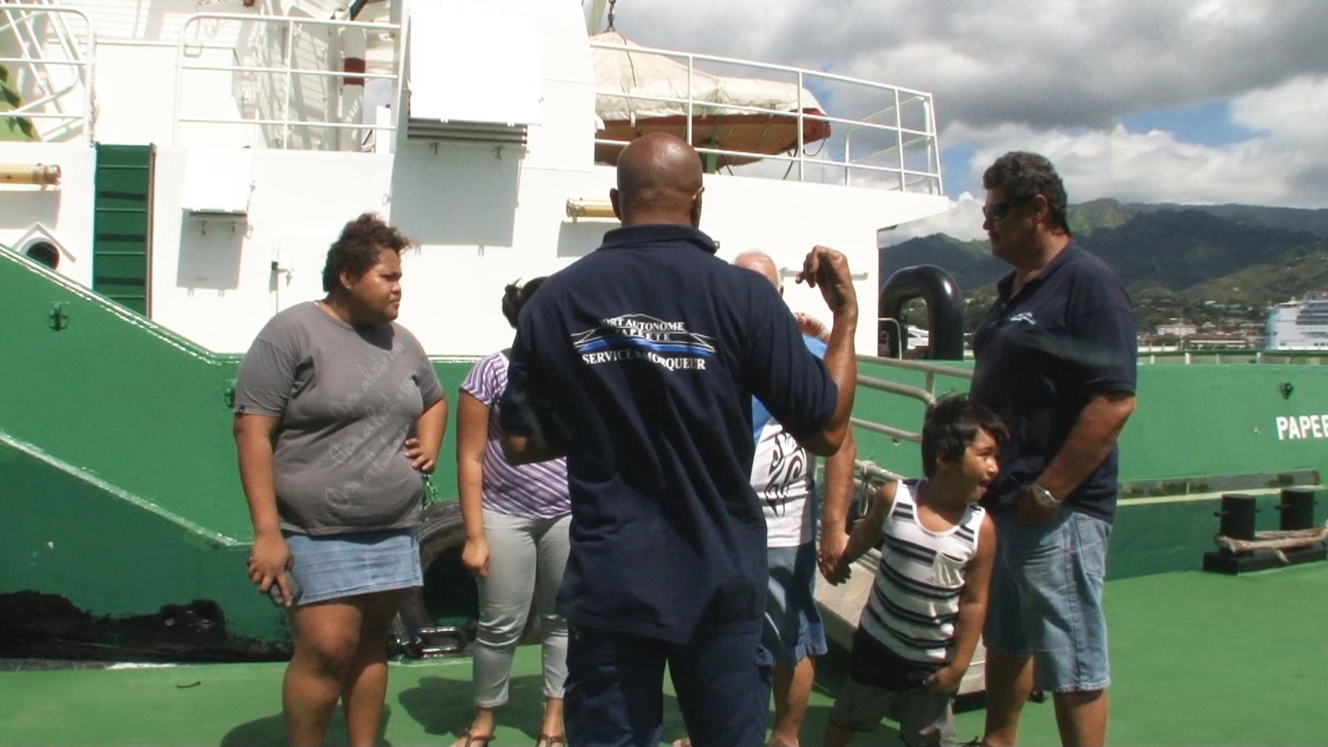 Briefing avant de monter à bord