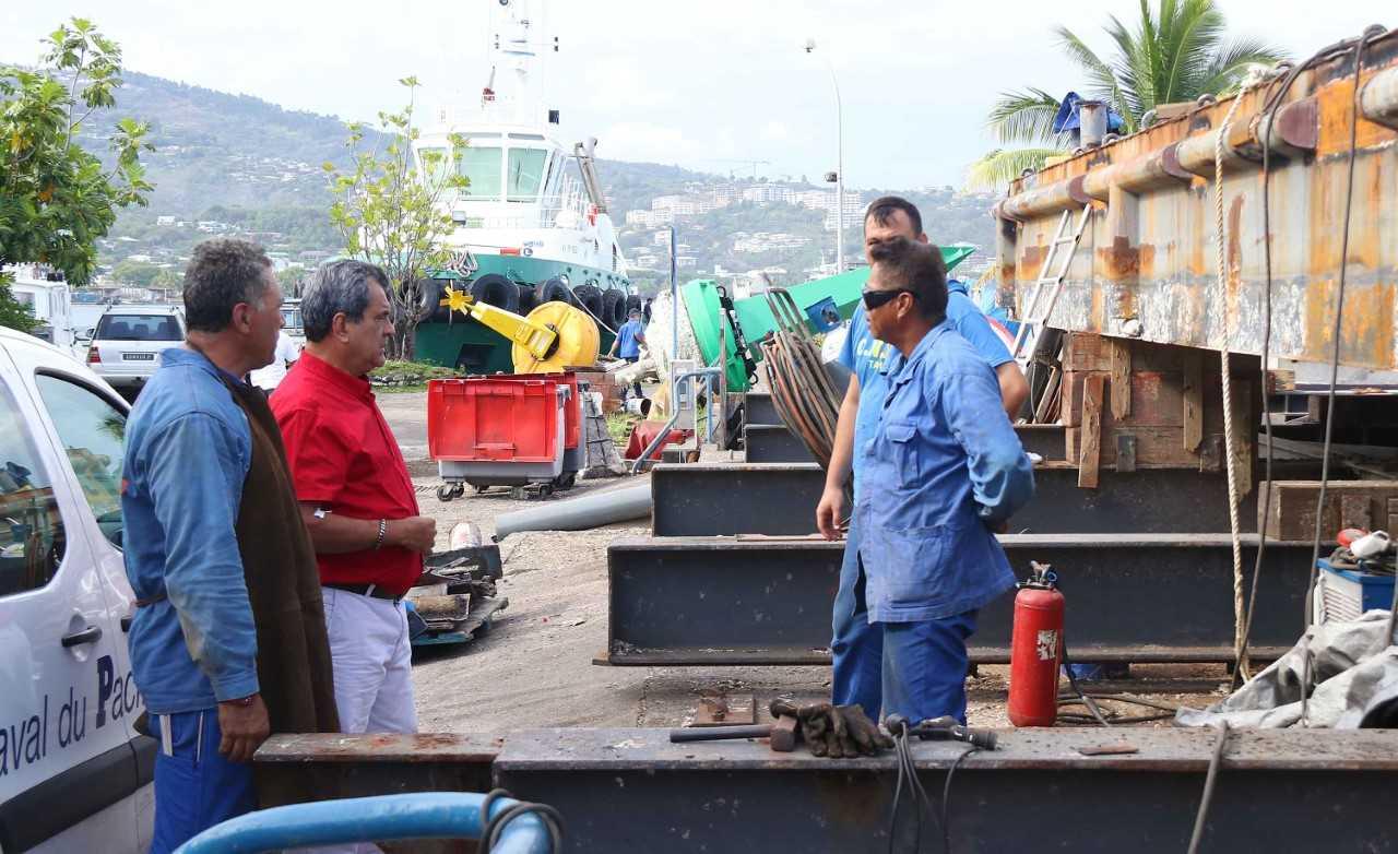 Le Port autonome accueille une partie du gouvernement et le maire de Papeete