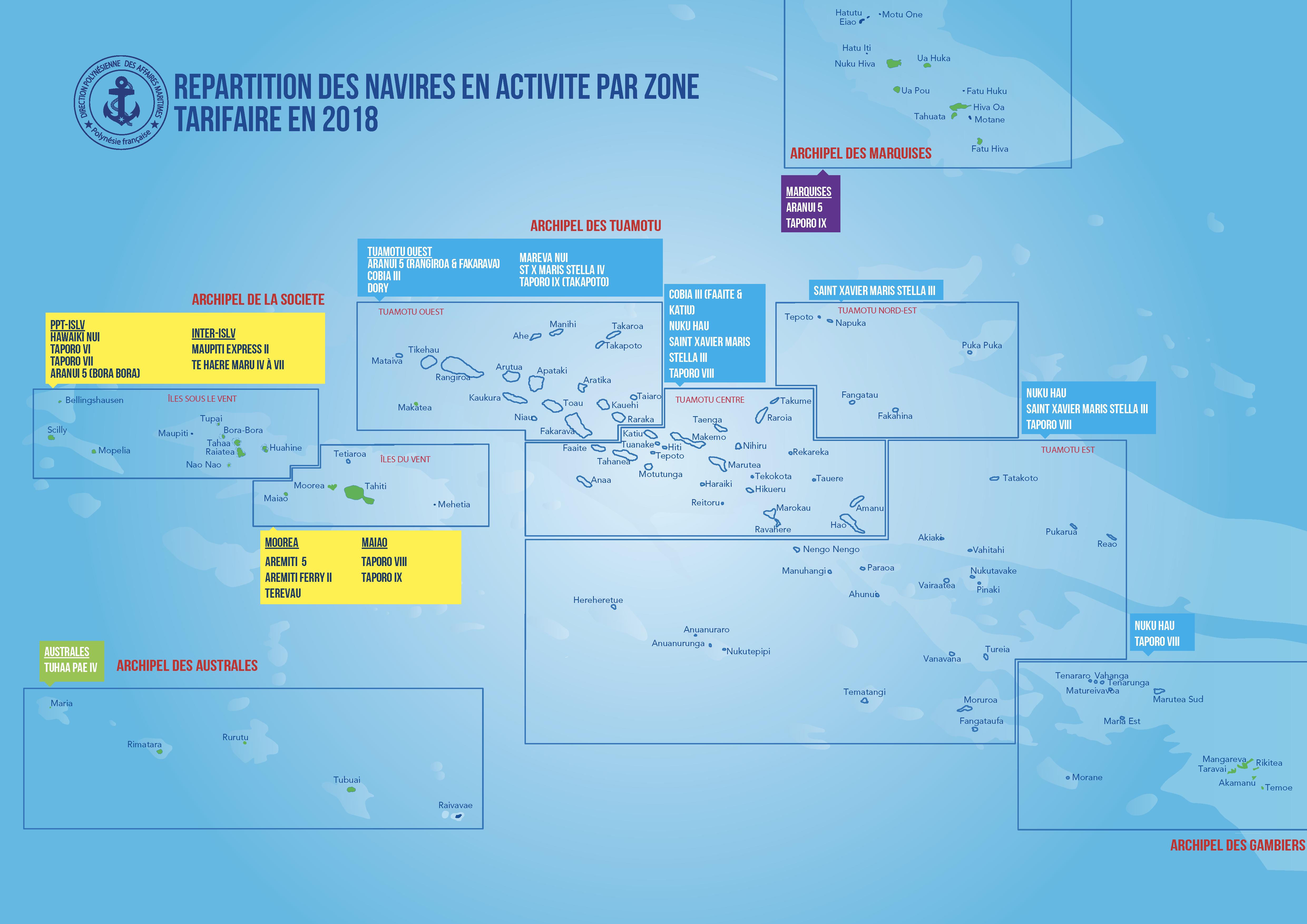Découvrez le nouvel atlas des lignes maritimes de la Polynésie française