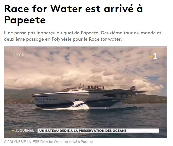 Race for Water est arrivé à Papeete
